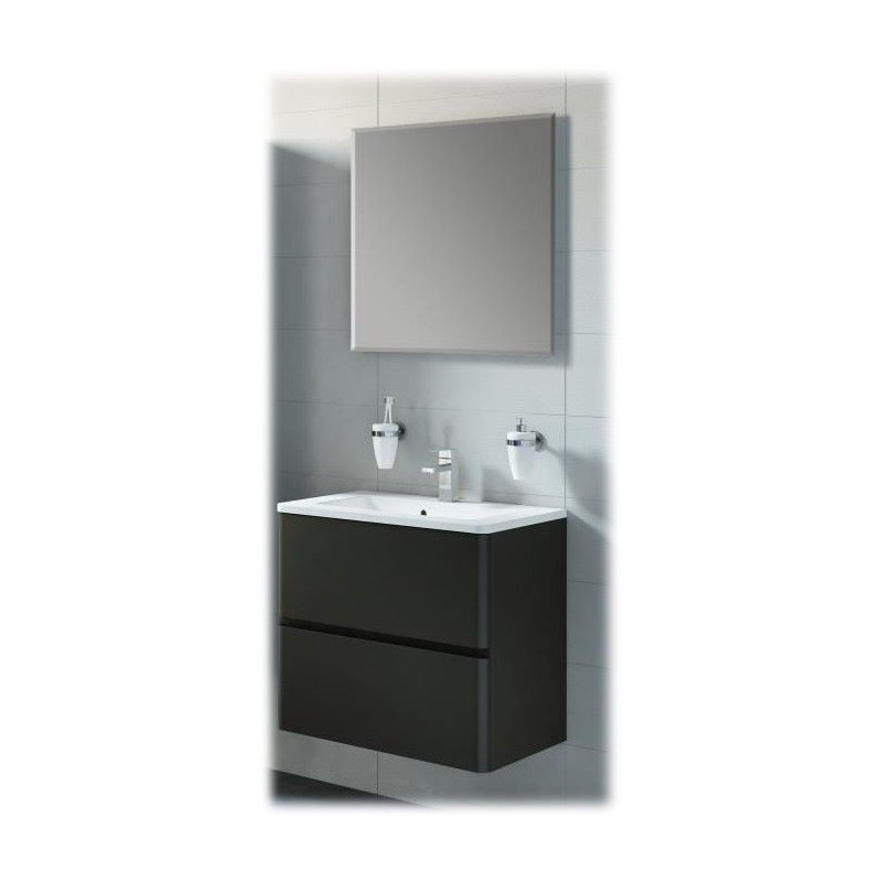 meuble de salle de bain aida noir laqu. Black Bedroom Furniture Sets. Home Design Ideas