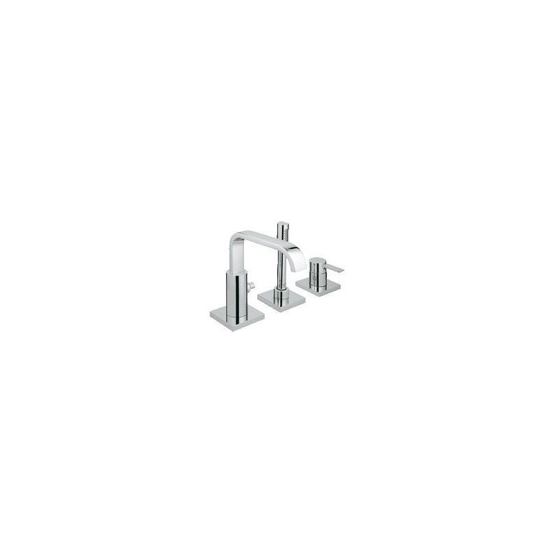 grohe allure l ments de finition pour combin bain douche montage sur carrelage chrom. Black Bedroom Furniture Sets. Home Design Ideas