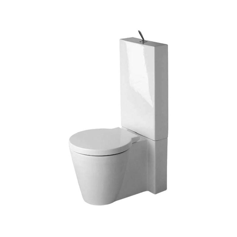 Duravit starck 1 staande wc starck 1 wit vario afv diepsp - Wastafel een poser duravit ...