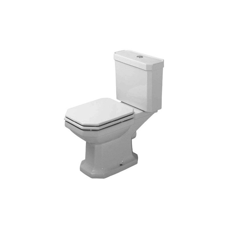 duravit 1930 staande wc 1930 wit afv horizon diepspoel voor reservoir 0227090000. Black Bedroom Furniture Sets. Home Design Ideas