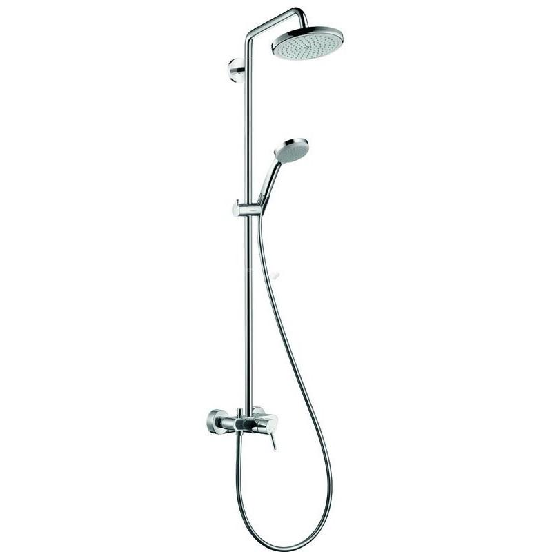 hansgrohe croma 220 showerpipe douche banio salle de bain badkamers. Black Bedroom Furniture Sets. Home Design Ideas