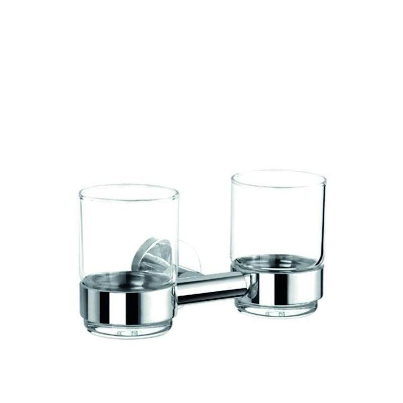 Porte verre de r f rence p1284d de banio chez banio for Porte verre salle de bain