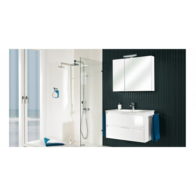 meuble de salle de bain pelipal calypsos de 90 cm blanc banio salle de bain badkamers. Black Bedroom Furniture Sets. Home Design Ideas