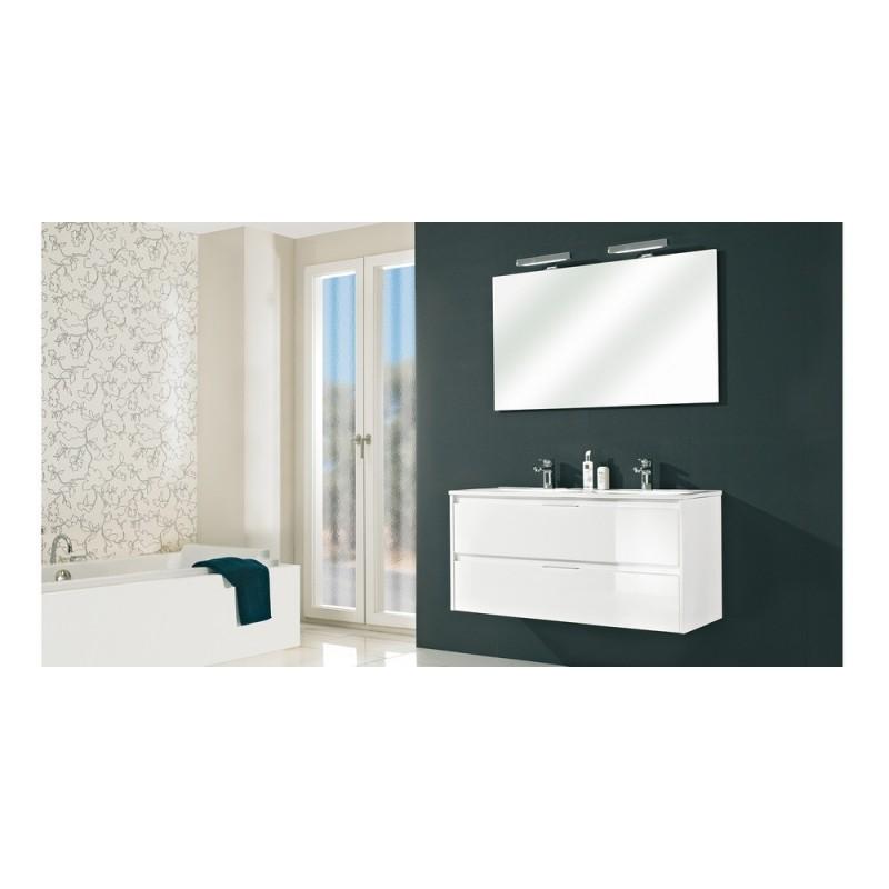 Meuble de salle de bain pelipal calypsos de 120 cm blanc for Meuble salle de bain 120 cm porte