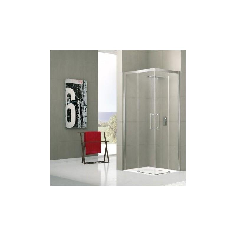 Novellini rose a 85 extensible 84 87 cm vitrage satin silver banio salle de bain badkamers - Porte de douche extensible ...