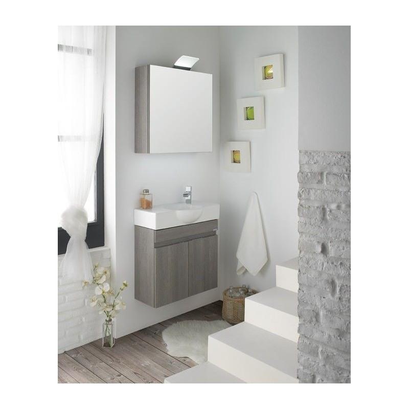 Meuble de salle de bain sanchis mini - Mini salle de douche ...