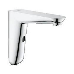 Grohe Euroeco CE robinet de lavabo, électronique à infrarouge, montage mural, 6 V, saillie 170 mm, EcoJoy, chromé