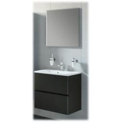 meuble de salle de bain AIDA Noir laqué Porcelaine