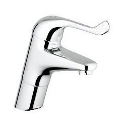 """Grohe Euroeco Securit mitigeur séquentiel ½"""" lavabo, corps lisse, modèle relevé, EcoJoy, chromé"""