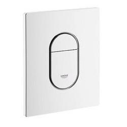 Grohe Plaque de commande Arena pour WC, 156 x 197 mm, montage verticale, blanc