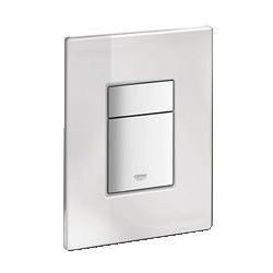Grohe Plaque de commande Cosmo MirrorGlass pour WC, 156 x 197 mm, chromé/verre blanc