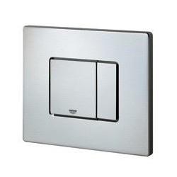 Grohe Plaque de commande Cosmo pour WC, 156 x 197 mm, montage horizontal, RealSteel