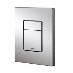Grohe Plaque de commande Cosmo pour WC, 156 x 197 mm, montage vertical ou horizontal, anti-fingerprint