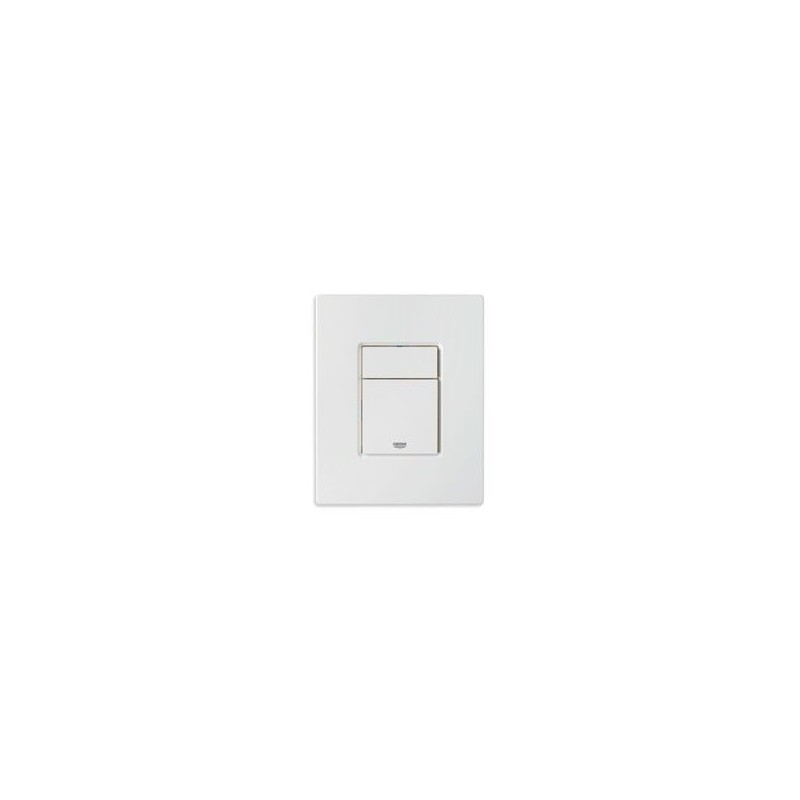 Grohe Plaque de commande Cosmo pour WC, 156 x 197 mm, montage vertical ou horizontal, blanc
