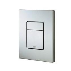 Grohe Plaque de commande Cosmo pour WC, 156 x 197 mm, montage vertical, RealSteel