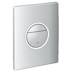 Grohe Plaque de commande Nova Light pour WC, 156 x 197 mm, montage vertical ou horizontal, chromé