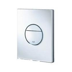 Grohe Plaque de commande Nova pour WC, 156 x 197 mm, montage vertical ou horizontal, blanc