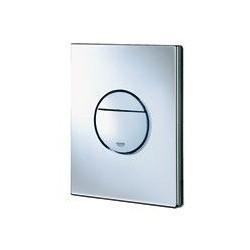 Grohe Plaque de commande Nova pour WC, 156 x 197 mm, montage vertical ou horizontal, chromé-mat