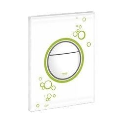 Grohe Plaque de commande Nova Print, 156 x 197 mm, montage vertical ou horizontal, moon white