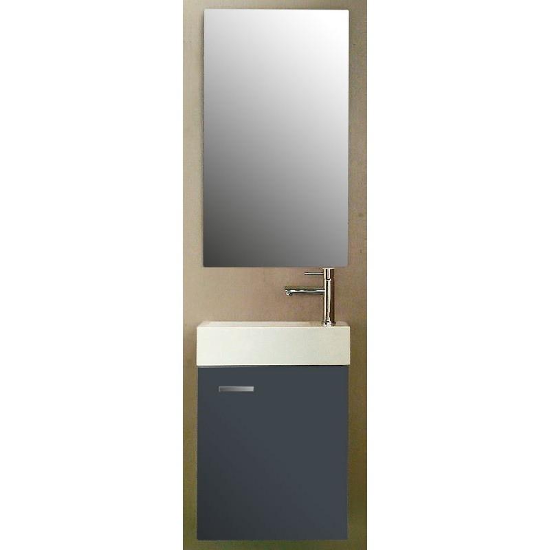 Pack Meuble de toilette Salerno gris brillant: SA600451