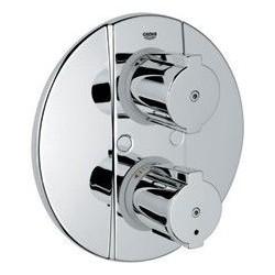 Grohe Grohtherm 2000 Special élément de finition élément d'installation universel avec thermostat, robinet d'arrêt, EcoJoy, ch