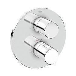 Grohe Grohtherm 3000 Cosmopolitan élément de finition pour élément d'installation universel avec thermostat, Aquadimmer, chrom