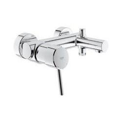 """Grohe Concetto mitigeur monocommande ½"""" pour bain/douche, réglage de débit à 2 niveaux, EcoJoy, chromé"""