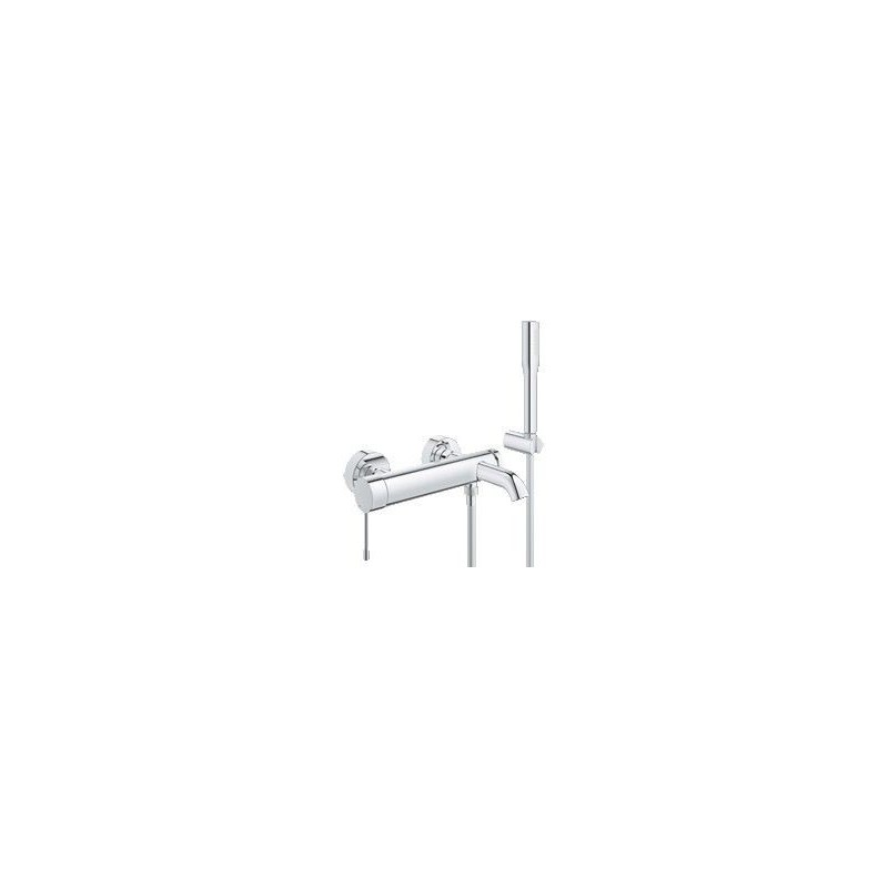 grohe essence mitigeur monocommande bain douche avec set de bain montage mural chrom 33628001. Black Bedroom Furniture Sets. Home Design Ideas