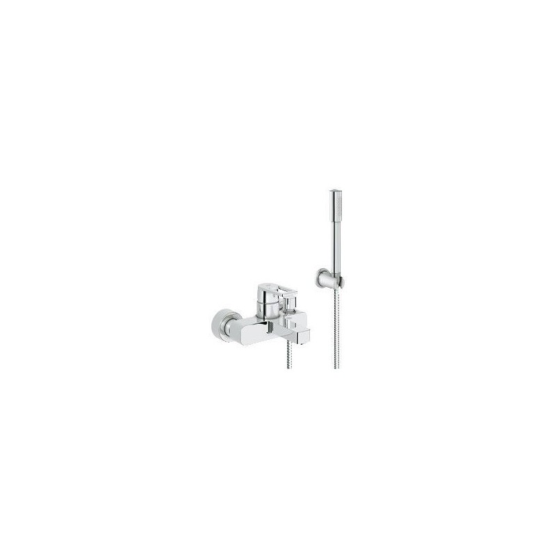 grohe quadra mitigeur monocommande bain douche avec set de bain sena montage mural chrom. Black Bedroom Furniture Sets. Home Design Ideas