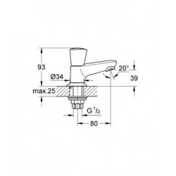 grohe robinet de lave mains c ramique chrom 20405001. Black Bedroom Furniture Sets. Home Design Ideas