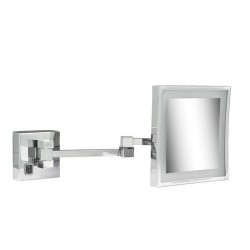 GEESA Miroir à barbe, 205x205 mm, LED illumination, 3x grossisant, double bras