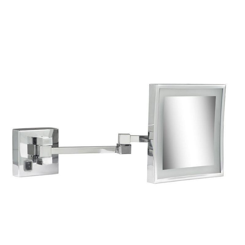 GEESA Scheerspiegel, 2 armen, LED verlichting, 3x vergrotend ...