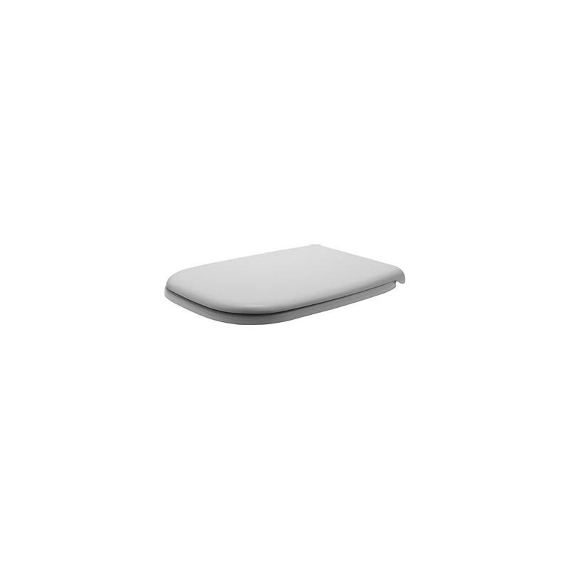 DURAVIT D-Code lunette D-CODE     BLANC CHARN.INOX, sans SOFTCLOSE