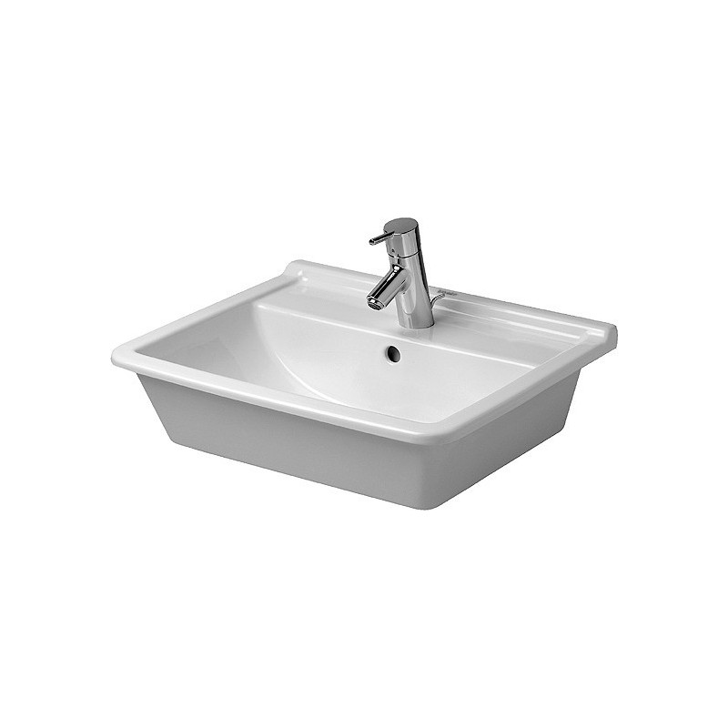 duravit starck 3 vasque 56 starck 3 blanc wondergliss 03025600001. Black Bedroom Furniture Sets. Home Design Ideas