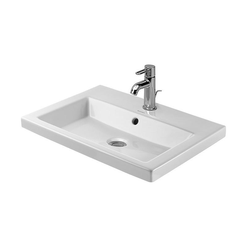 duravit 2nd floor vasque 60 2nd floor 3tr blanc 0347600030. Black Bedroom Furniture Sets. Home Design Ideas