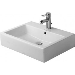 DURAVIT Vero Vasque  A POSER 600mm VERO BLANC MEULE EMAILLE 4 FACES, 3 TR