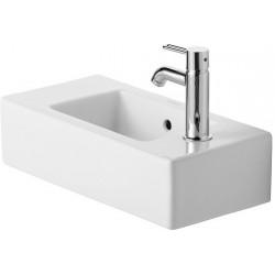 DURAVIT Vero Lave-mains  50 VERO    BLANC TROU PERCE A GAUCHE WONDERGLISS