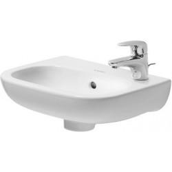 DURAVIT D-Code Lave-mains 360mm D-CODE     BLANC avec TP, avec PLAGE ROB., TR gauche