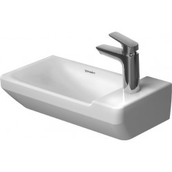 DURAVIT P3 Comforts LAVE-MAINS 500mm P3 Comforts BLANC, sans TP, av.PdR, 1 TR, WGL