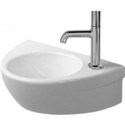 DURAVIT Starck 2 Lave-mains 38 STARCK EDITION 2  BLANC TR PERCE A DROITE WONDERGLISS