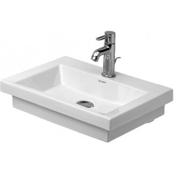 DURAVIT 2nd floor LAVE-MAINS 500mm 2nd floor BLANC ss TP, av.PdR,1 TR, MEULE, WGL