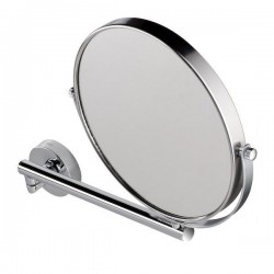 GEESA Miroir à barbe, un bras orientable, simple et 3x grossisant, ø 190 mm