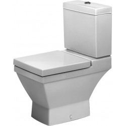 DURAVIT 2nd floor Staande-WC 66 cm 2nd floor wit afvoer horizon.,diepsp,v.Reservoir
