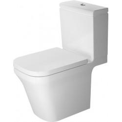 DURAVIT P3 Comforts Stand-WC Kombi 650mm P3 Comforts Weiss, TS, Abg. waagr.