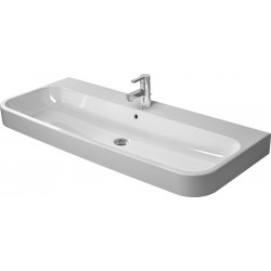 DURAVIT Happy D.2 LAVABO p.MEUBLE 1200mm Happy D.2 BLANC,av.TP,av.PdR,3 TR, MEULE,WGL