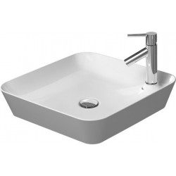 DURAVIT Cape Cod VASQUE A POSER Cape Cod 460mm BLANC av.¯lot rob.,sans TP,1TR,carrÚe,WGL