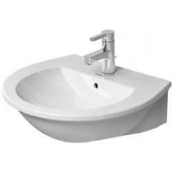 DURAVIT Darling New Wastafel 55 cm Darling New wit  ,met overl.,met krbank, WGL