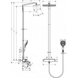 Hansgrohe RainDance Select Showerpipe 360 pour bain et douche
