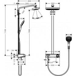 Hansgrohe Raindance Select E 300 2jet SHP EcoSm ST w/c