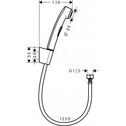 Hansgrohe Bidette chr./Isiflex 1250mm/Porter S